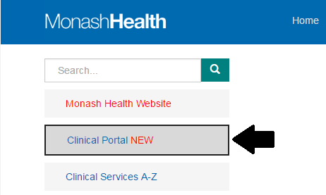 Intranet clinical portal